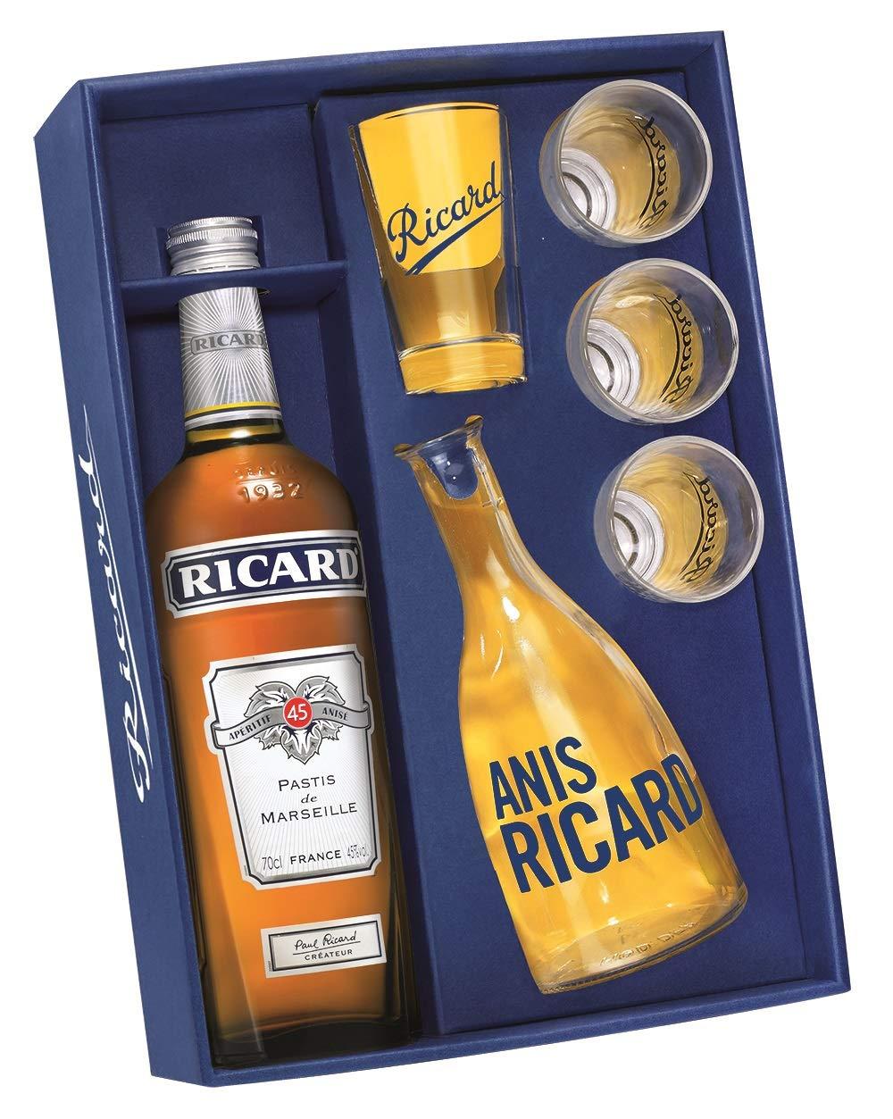 Coffret Bouteille de Pastis Ricard - 70 cl + Carafe + 4 verres