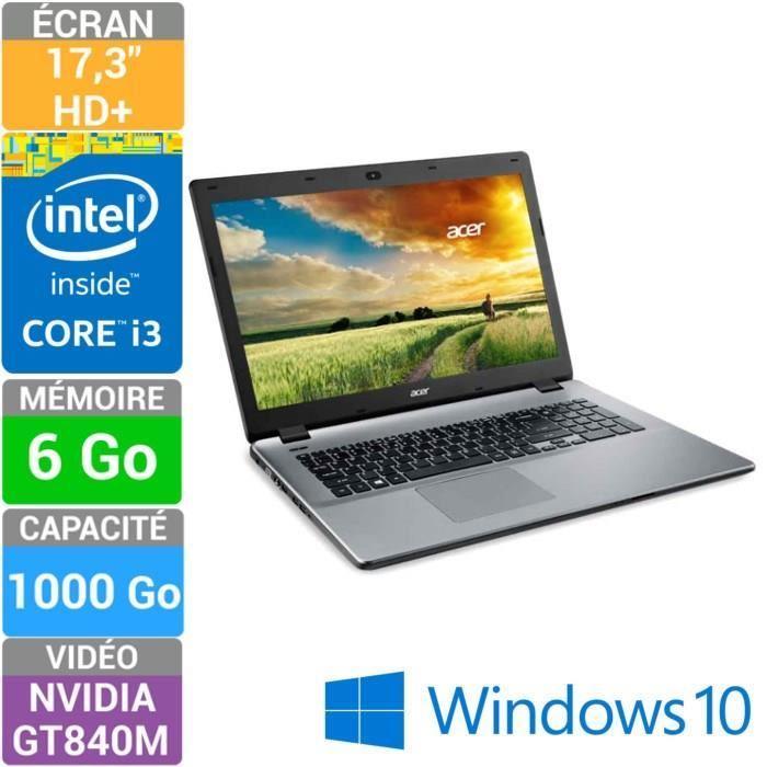 "PC Portable 17,3"" Acer - i3 5005u - 840m 2Go - 6Go ram - 1To (+20% en bons d'achat)"