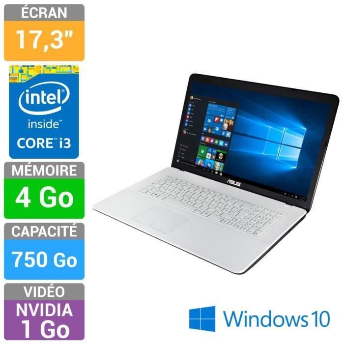 """PC Portable 17.3"""" Asus K751LJ-TY292T, i3 4005U, 920m 1Go, 4Go de ram, 750Go (+20% en bons d'achat)"""
