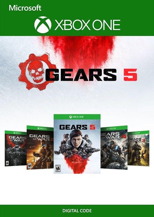Bundle Gears 5, Gears of War 4 & Gears of War: Édition Intégrale sur PC & Xbox One + Gears of War 2 et 3 sur Xbox One (dématérialisé)