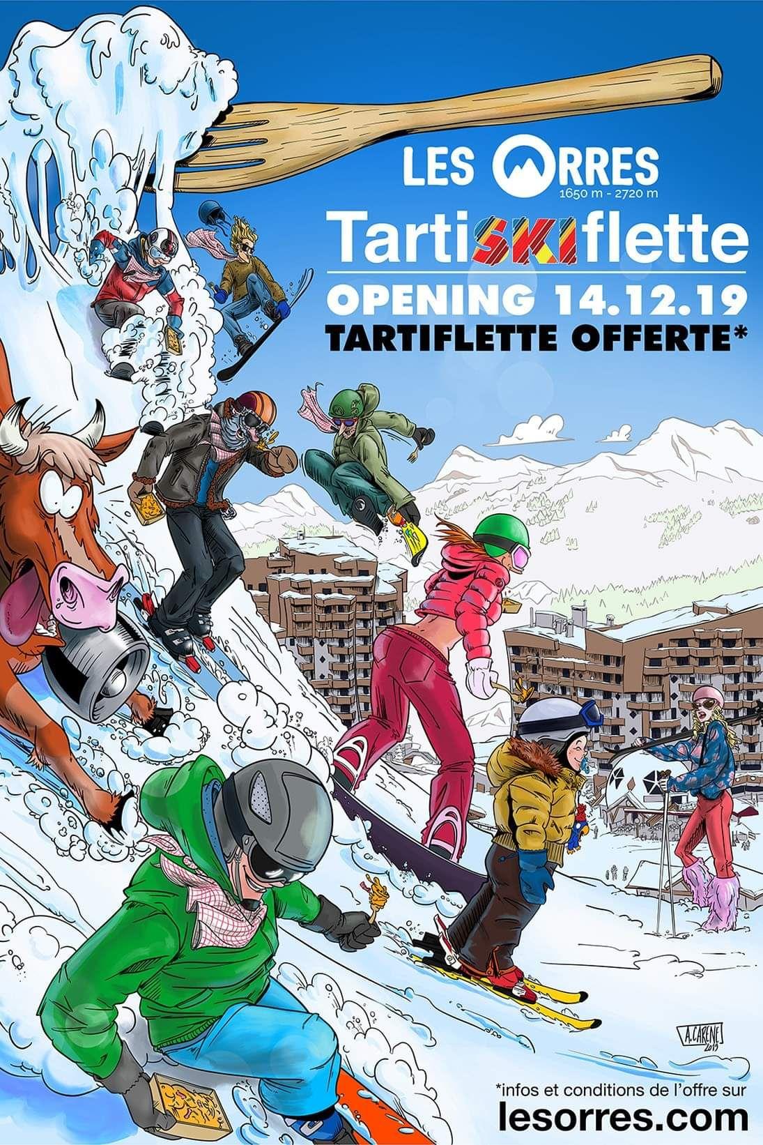 Tartiflette offerte pour un forfait ski acheté - Les Orres (05)