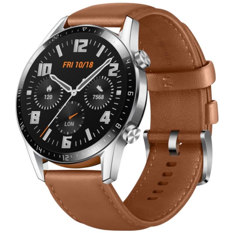 Montre connectée Huawei Watch GT 2 - Marron (Via ODR 50€ + 50€)