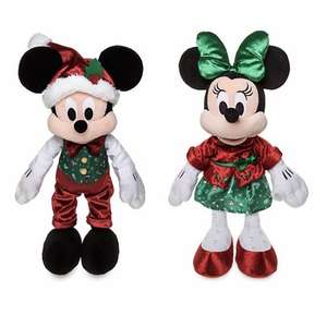 Peluches Mickey et Minnie Holiday Cheer