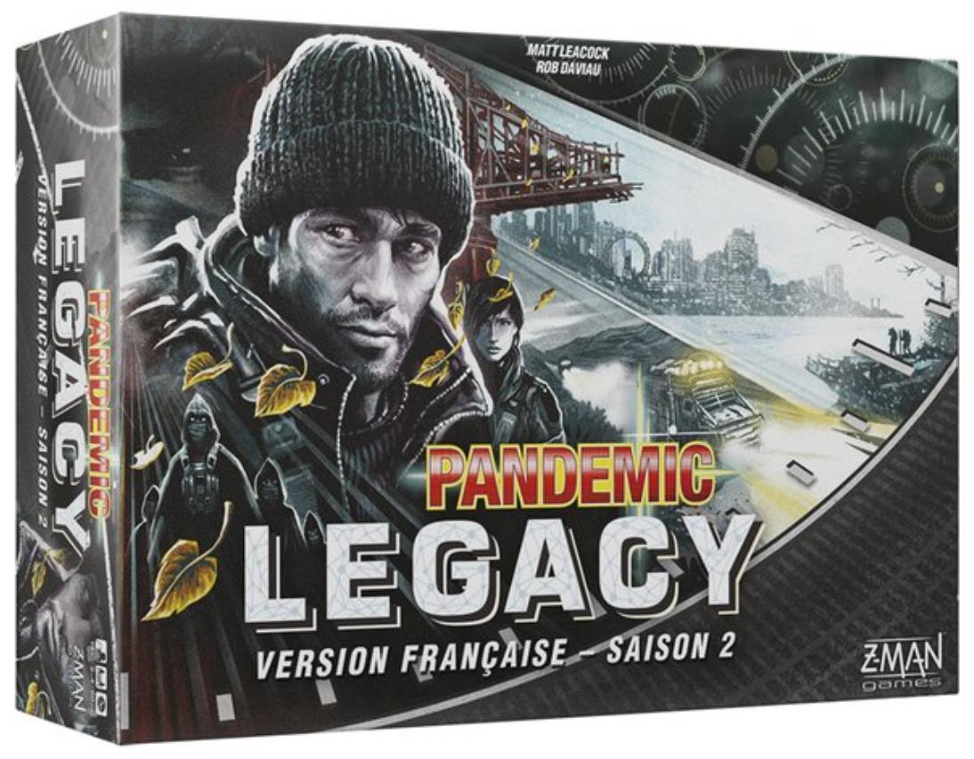 Jeu de société Pandemic Legacy Saison 2 - Boîte Noire (Frontaliers Belgique)