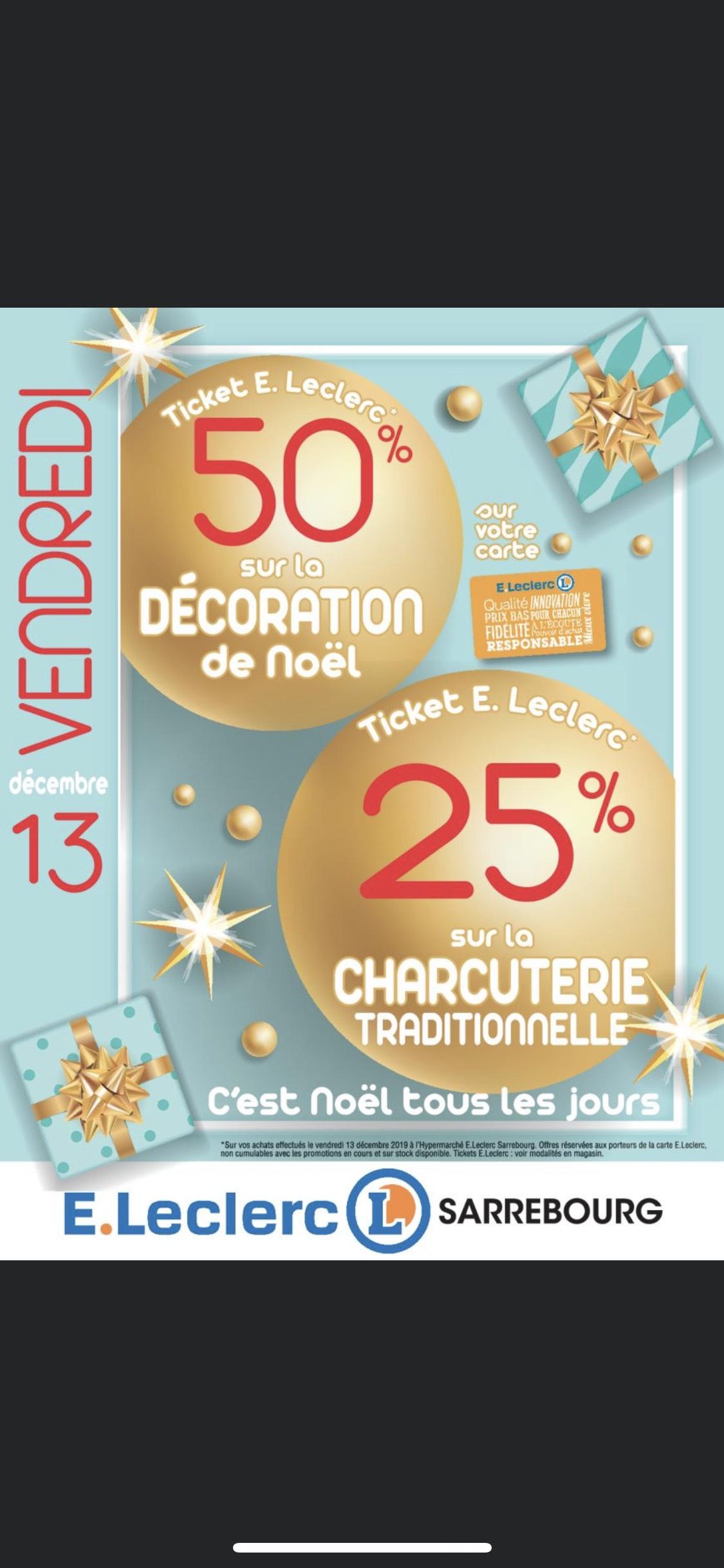 50% remboursés en Tickets sur les Décorations de Noël - Sarrebourg (57)