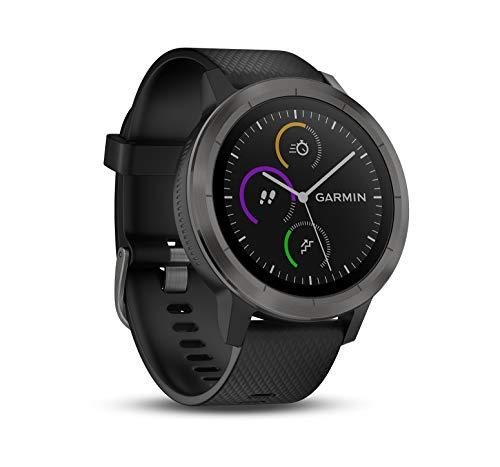 Montre GPS Garmin Vivoactive 3 avec Cardio Poignet - Gris avec Bracelet Noir
