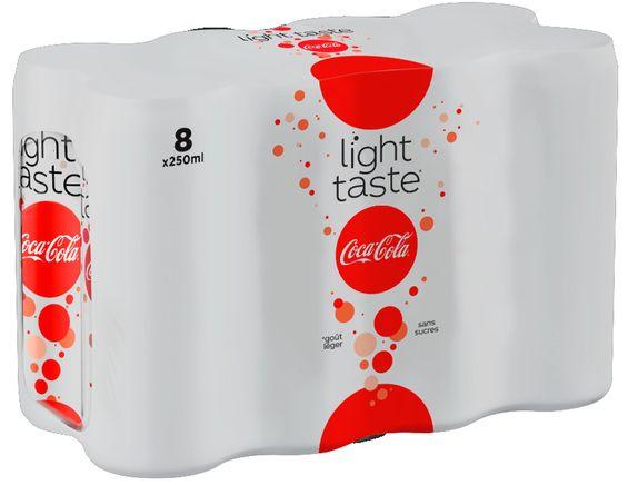 Pack de 8 canettes de Coca-Cola Light Taste - 8 x 25 cl - Servon (77)