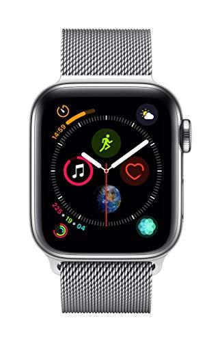 Montre connectée Apple Watch Series 4 (GPS + Cellular) - Boîtier en Acier Inoxydable de 40 mm avec Bracelet Milanais