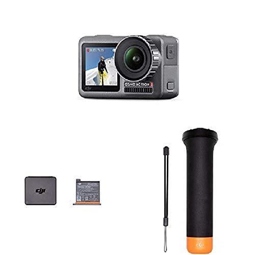 Caméra sport DJI Osmo Action Cam + Batterie de Rechange + Manche Flottant