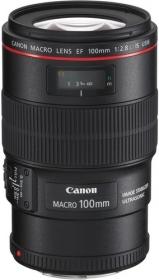 Objectif Canon EF 100mm macro f/2.8 IS USM série L - Rapport 1/1 (via ODR 125€)