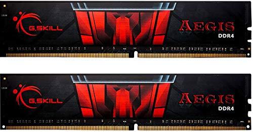 Kit mémoire RAM G.Skill Aegis (F4-3000C16D-16GISB) - 16 Go (2 x 8 Go) DDR4, 3000 Mhz, CL16
