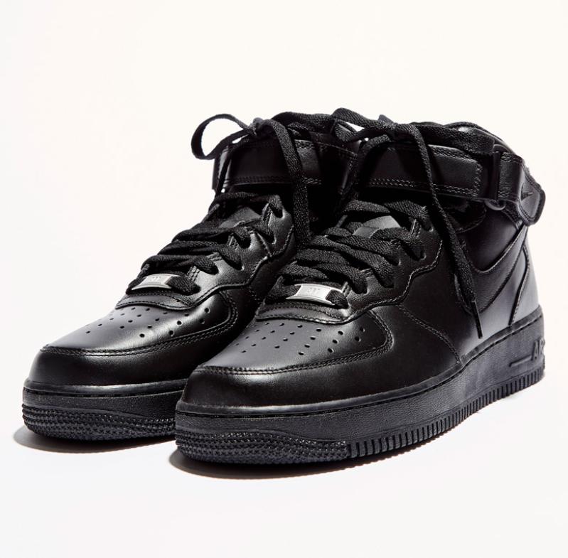 Baskets Nike Air force 1 MID - Noir, taille au choix
