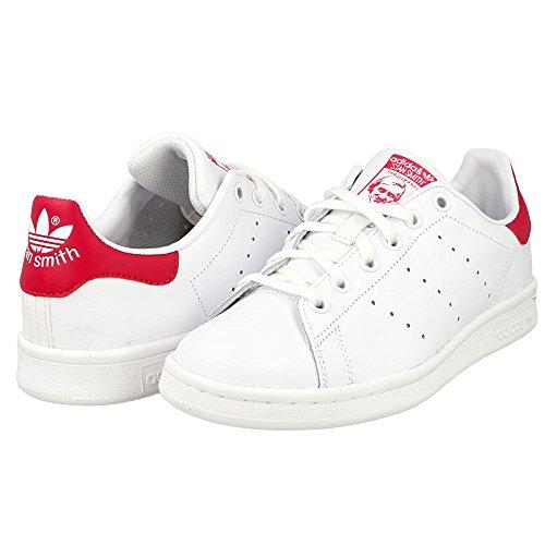 Chaussures pour enfant adidas Stan Smith J - blanc / rouge (du 35.5 au 37 1/3)