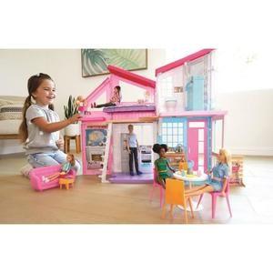 """Maison de poupées Barbie """"La Maison à Malibu"""" - 2 étages, pliable, 25 accessoires inclus"""