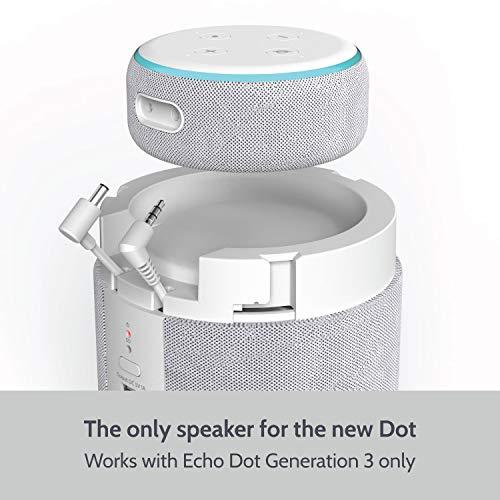 Enceinte Portable pour Echo Dot 3ème Génération (dernier modèle - Non inclus) i-box - Sable (Vendeur tiers)