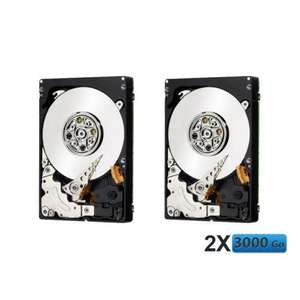 Lot de 2 Disques dur 3 To WE WE-HDD-3000-WD - 5400 trs/mn