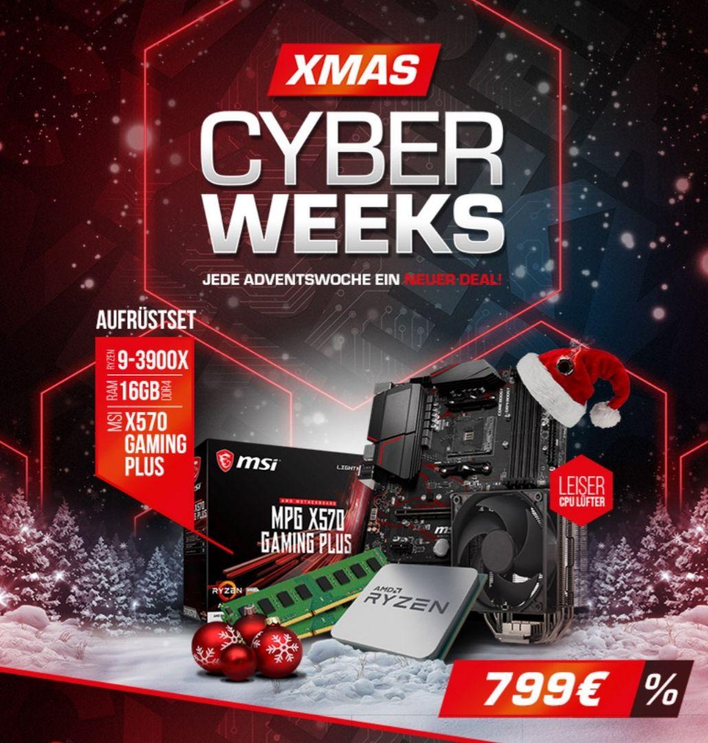 Kit d'évo PC - processeur AMD Ryzen 9 3900X (3.8GHz) + carte-mère MSI MPG X570 + ventilateur CM Hyper 212 + kit RAM Corsair DDR4-3000 (16Go)
