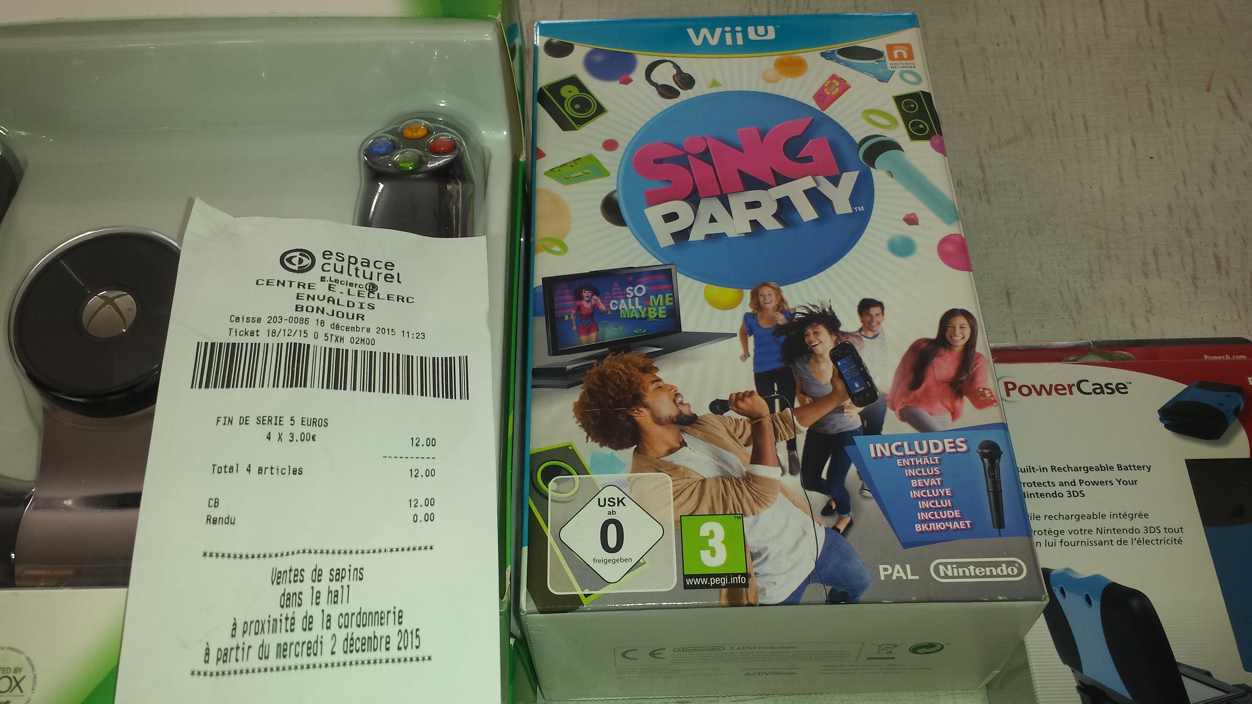 Jeu Sing Party sur Wii U - avec micro