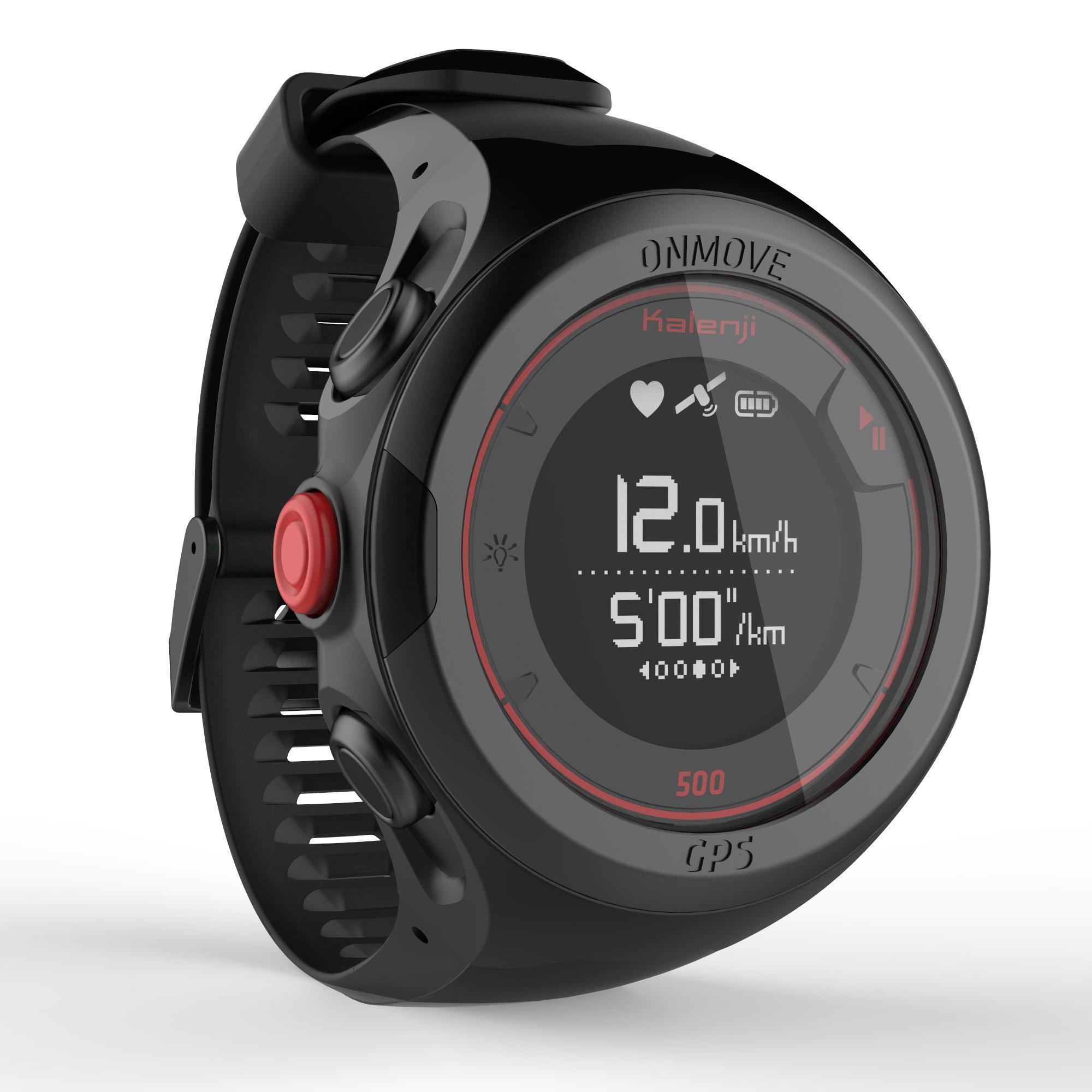 Montre cardio de running GPS Kalenji OnMove 500 - noir