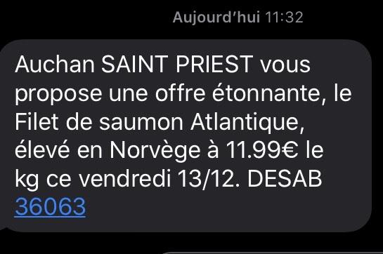 Filet de saumon Atlantique (élevé en Norvège, le kg) - Saint-Priest (69)