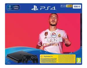 Pack Console PS4 Slim 500Go + Fifa 20 + 2 manettes (Frontaliers Belgique)