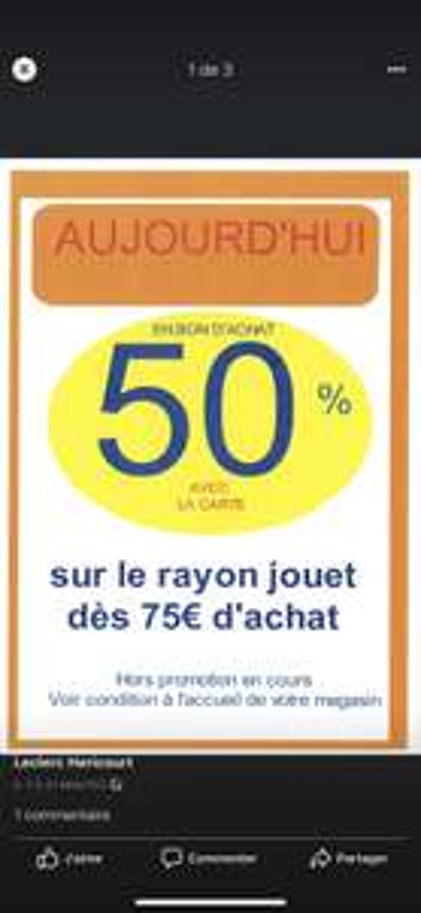 50% remboursés en bon d'achat sur les Jouets dès 75€ d'achat - Héricourt (70)