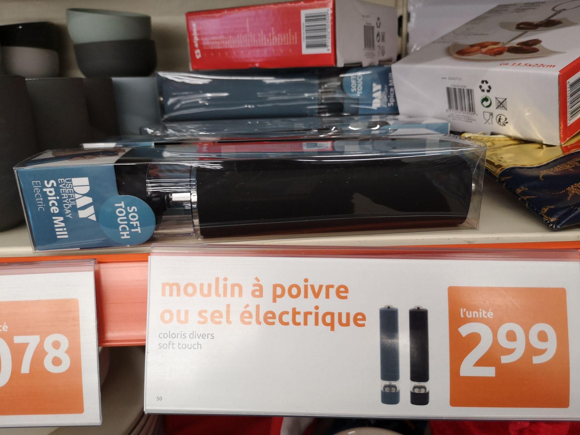 Moulin à épices électrique, sel ou poivre (Savigny-sur-Orge 91)