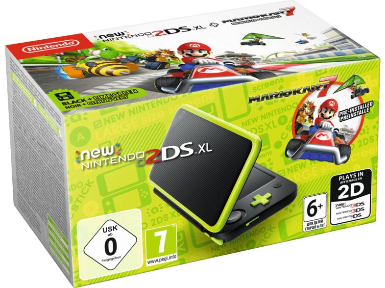 Console New Nintendo 2DS XL + MarioKart 7 - Noir/Vert (Frontaliers Suisse)