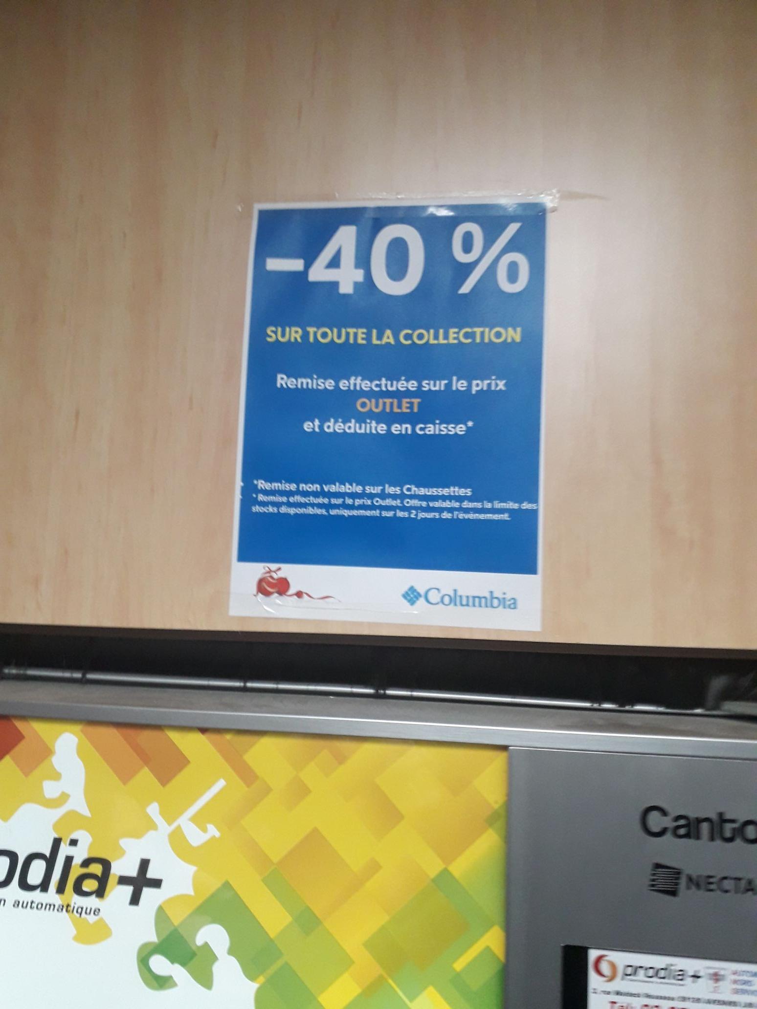 40% de réduction supplémentaire sur tout la collection Outlet - Raillencourt-Sainte-Olle (59)