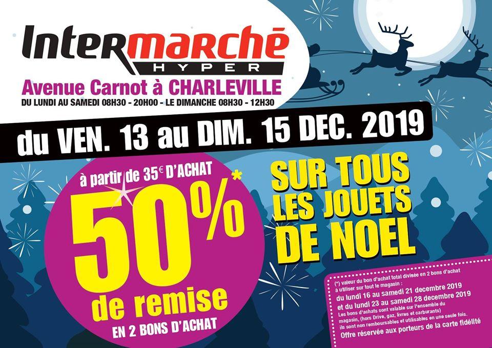 50% Remboursés en bons d'achats sur le rayon jouets - Charleville-Mézières (08)