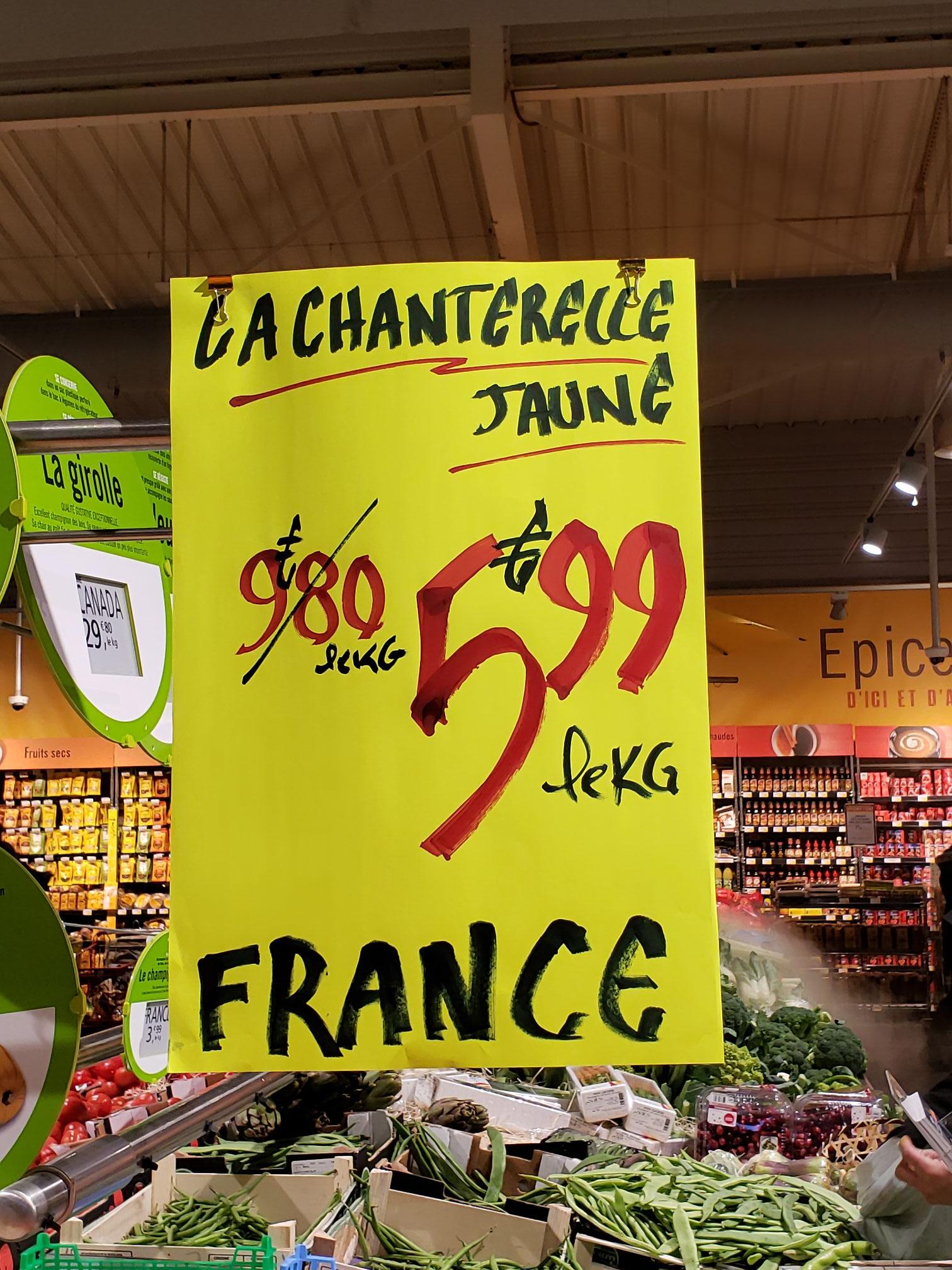 La chanterelle - 1Kg, Origine France (Strasbourg Haute pierre 67)