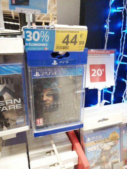 Death Stranding sur PS4 (Via 13.49€ sur la Carte) - Centre Deux (42)