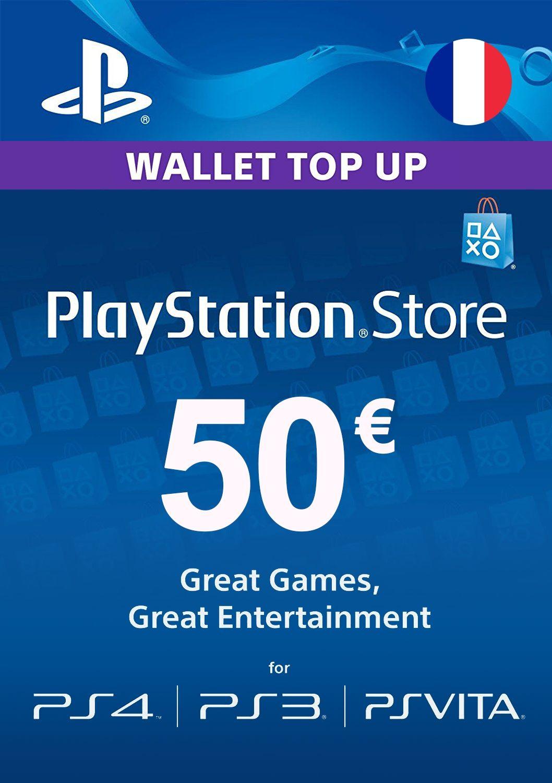 Carte de 50€ pour le PlayStation Store (dématérialisée)