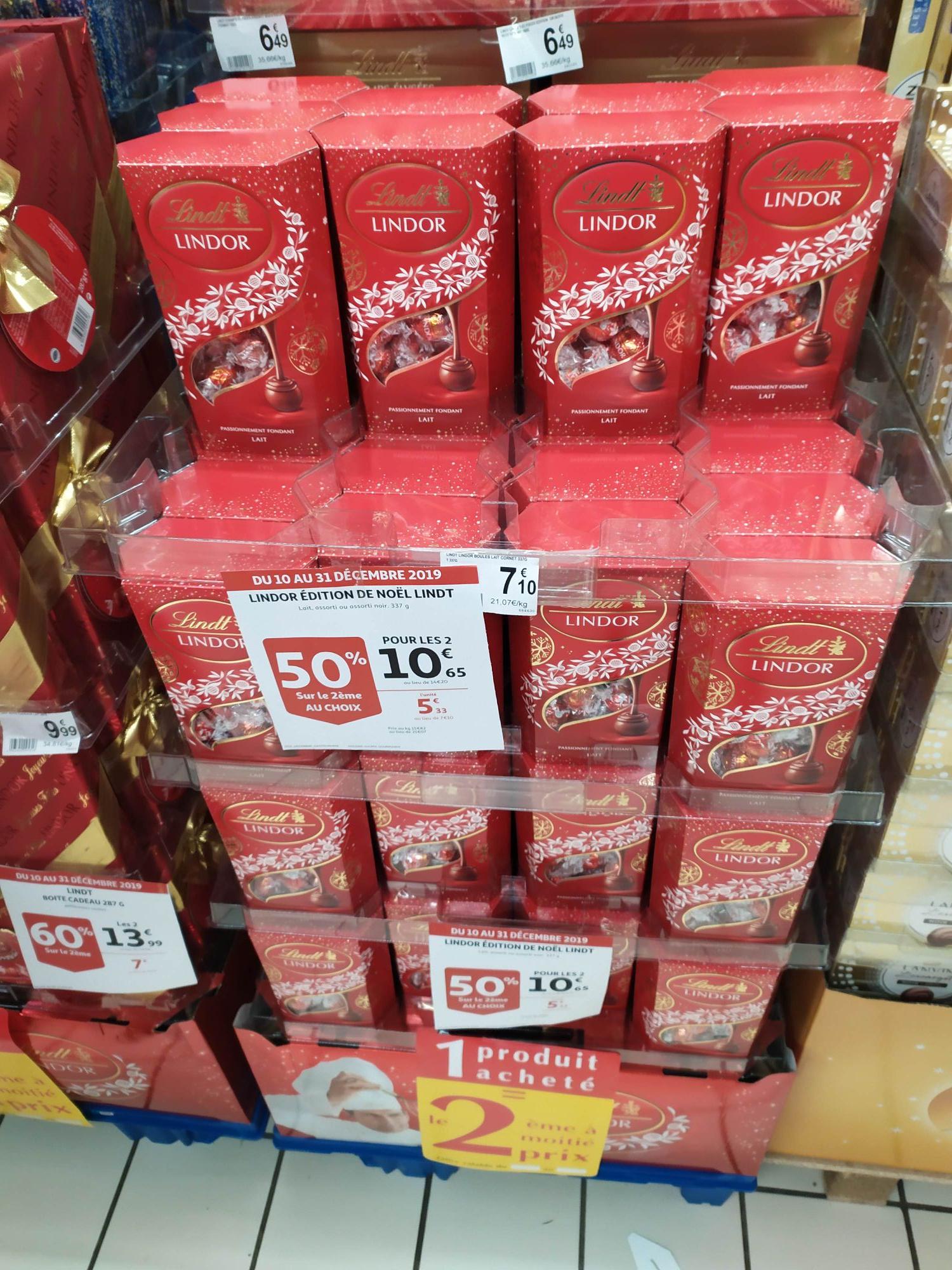 Lot de 2 boites de chocolat Lindt Lindor Editions Noël - Soisy (95)