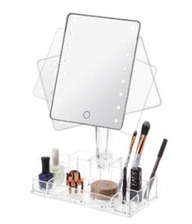 Miroir à éclairage LED et Rangement