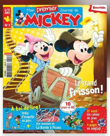 Abonnement de 1 an Mon premier journal de Mickey - 6 numéros