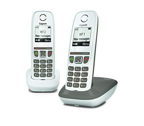 Téléphone fixe sans fil Gigaset AS470 Duo - 2 combinés, Blanc (Via ODR 10€)