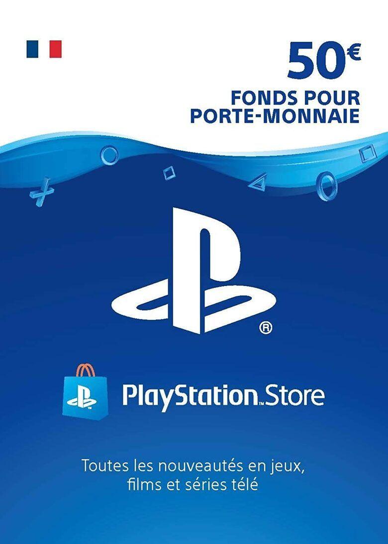 Carte PlayStation Network PSN de 50€ (Dématérialisée - Frais de paiement inclus)