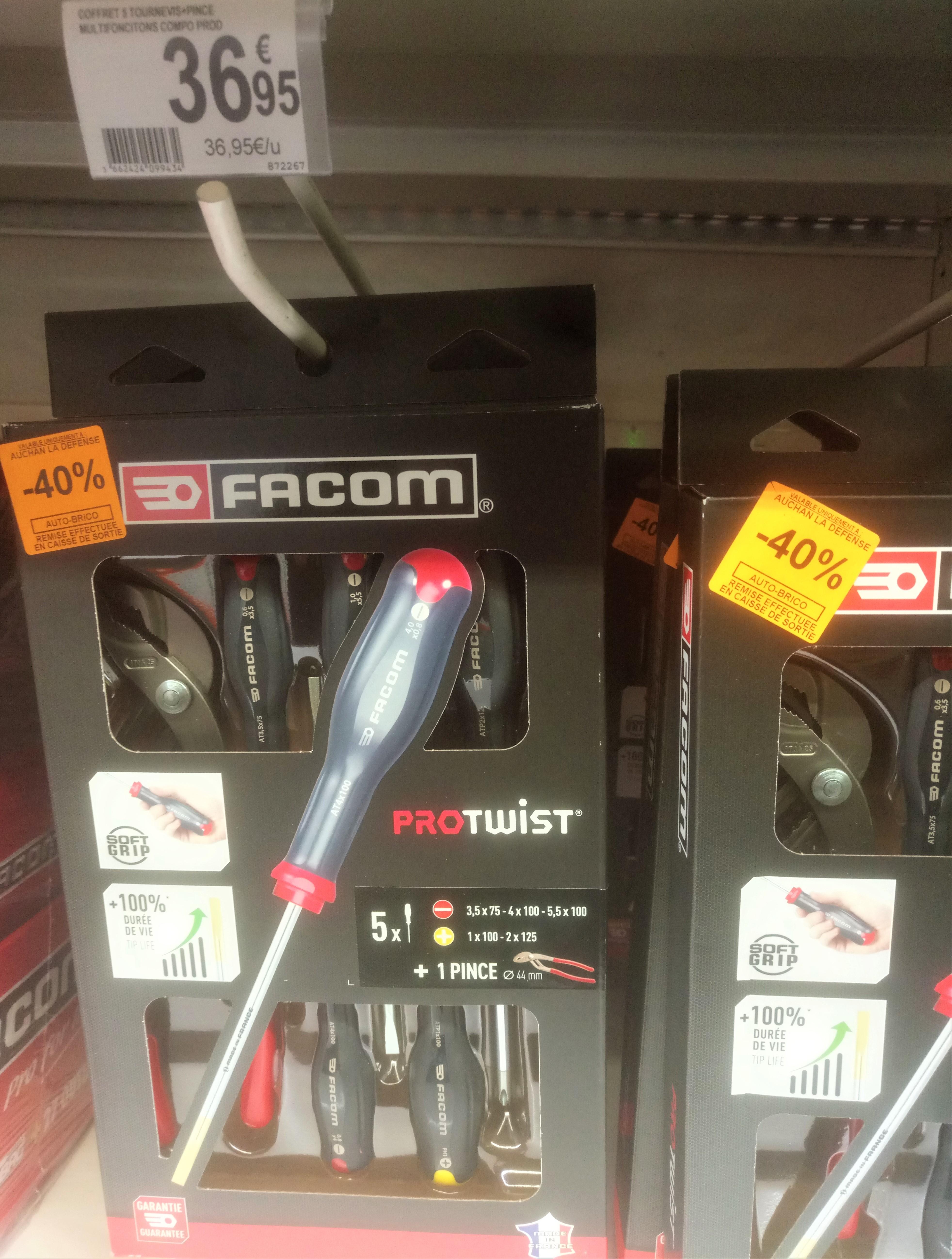 Coffret tournevis Facom Protwist + Pince multiprise - Auchan La Défense (92)