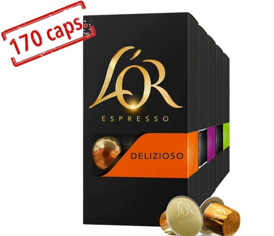 Pack découverte Grand Assortiment de capsules compatibles Nespresso - 17 x 10 L'Or Espresso