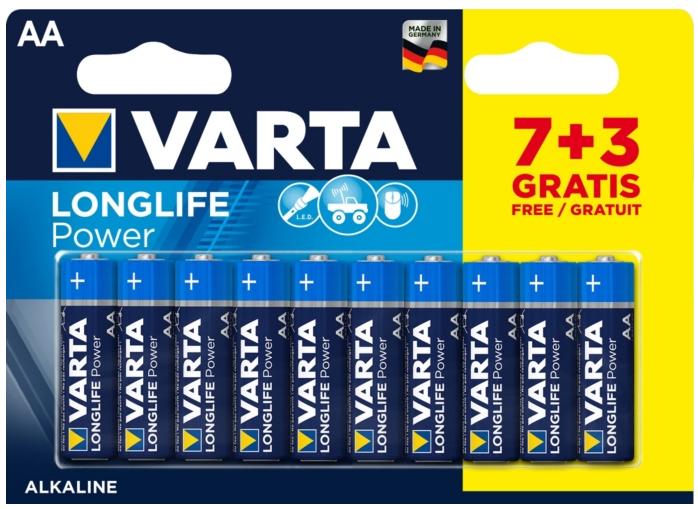 Lot de 10 piles Varta - AA