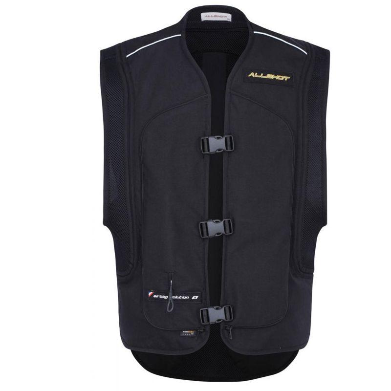 Gilet de moto airbag Allshot air V2 - Noir taille S et 2xl