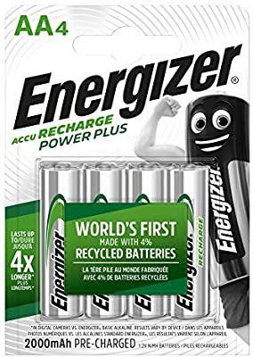 Pack de 4 piles rechargeable Energizer