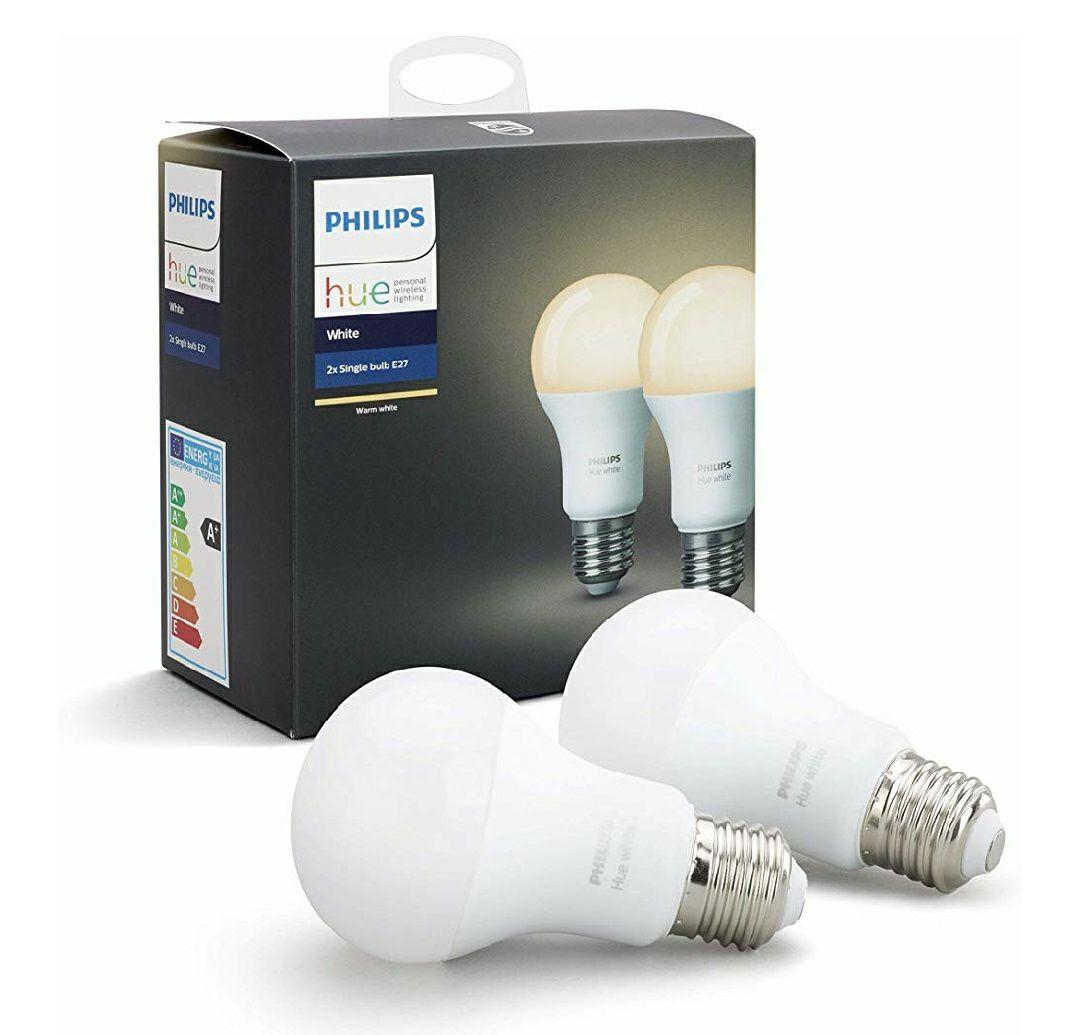 Lot de 2 Ampoules LED Connectées Philips Hue White E27