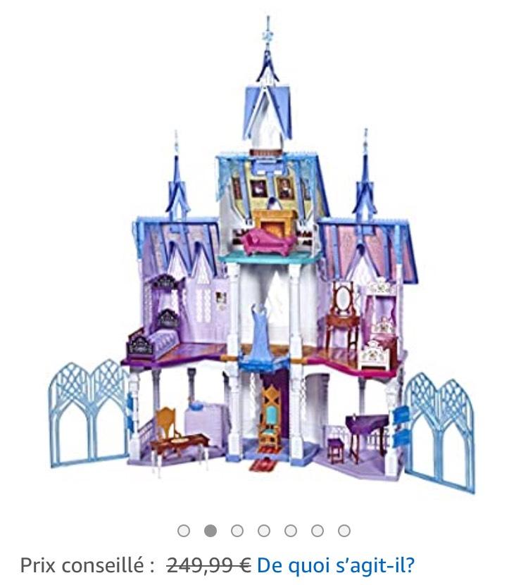 Jouet Disney La Reine des Neiges 2 - L'Extraordinaire Château d'Arendelle, d'Elsa et Anna (1m50 de haut)