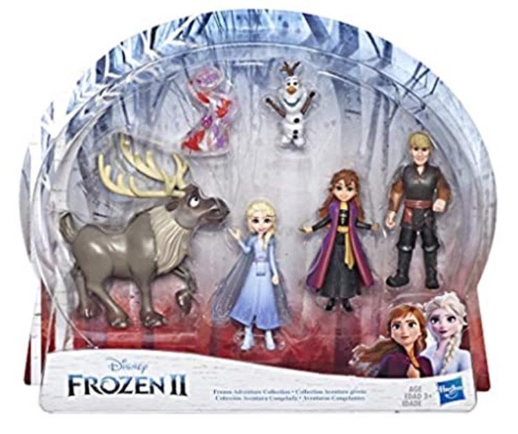 Coffret de 5 Mini figurines Disney La Reine des Neiges 2 - Poupées Elsa, Anna, Kristoff, Olaf et Sven
