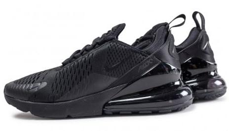 Baskets basses Nike Air Max 270 Triple black - Tailles 40, 41 et 43 à 46