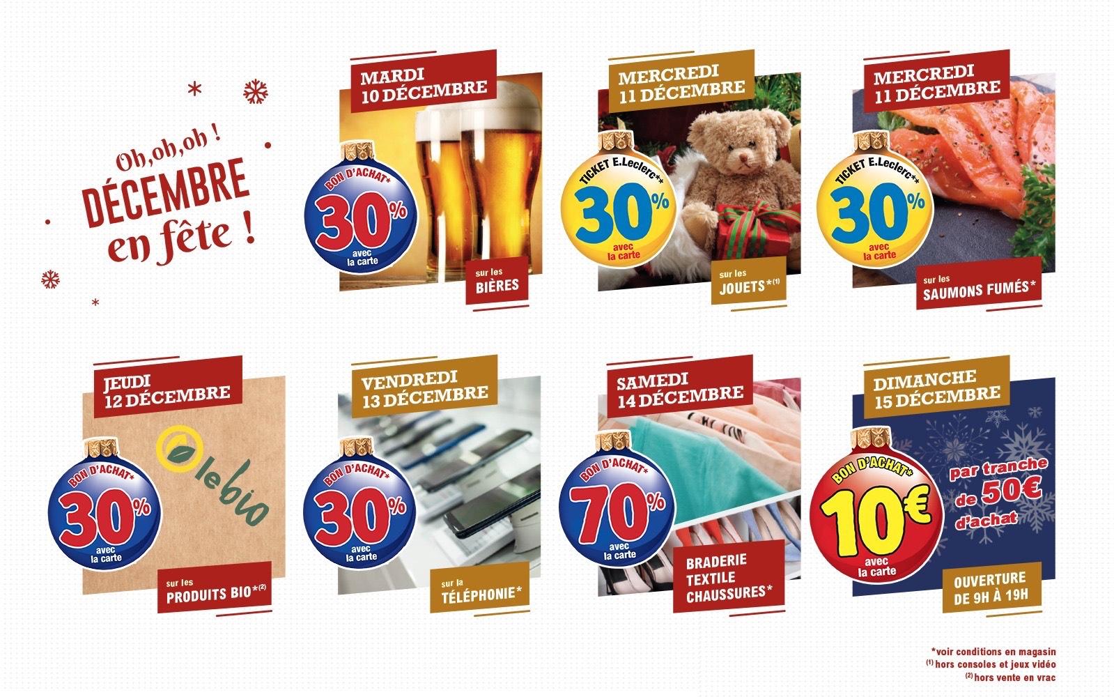 Sélection d'offres promotionnelles - Ex : 10€ offerts par tranche de 50€ d'achat (Roubaix 59)
