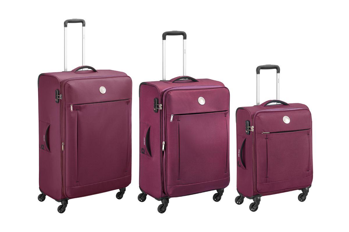Set de 3 valises Delsey Banjul - Violet