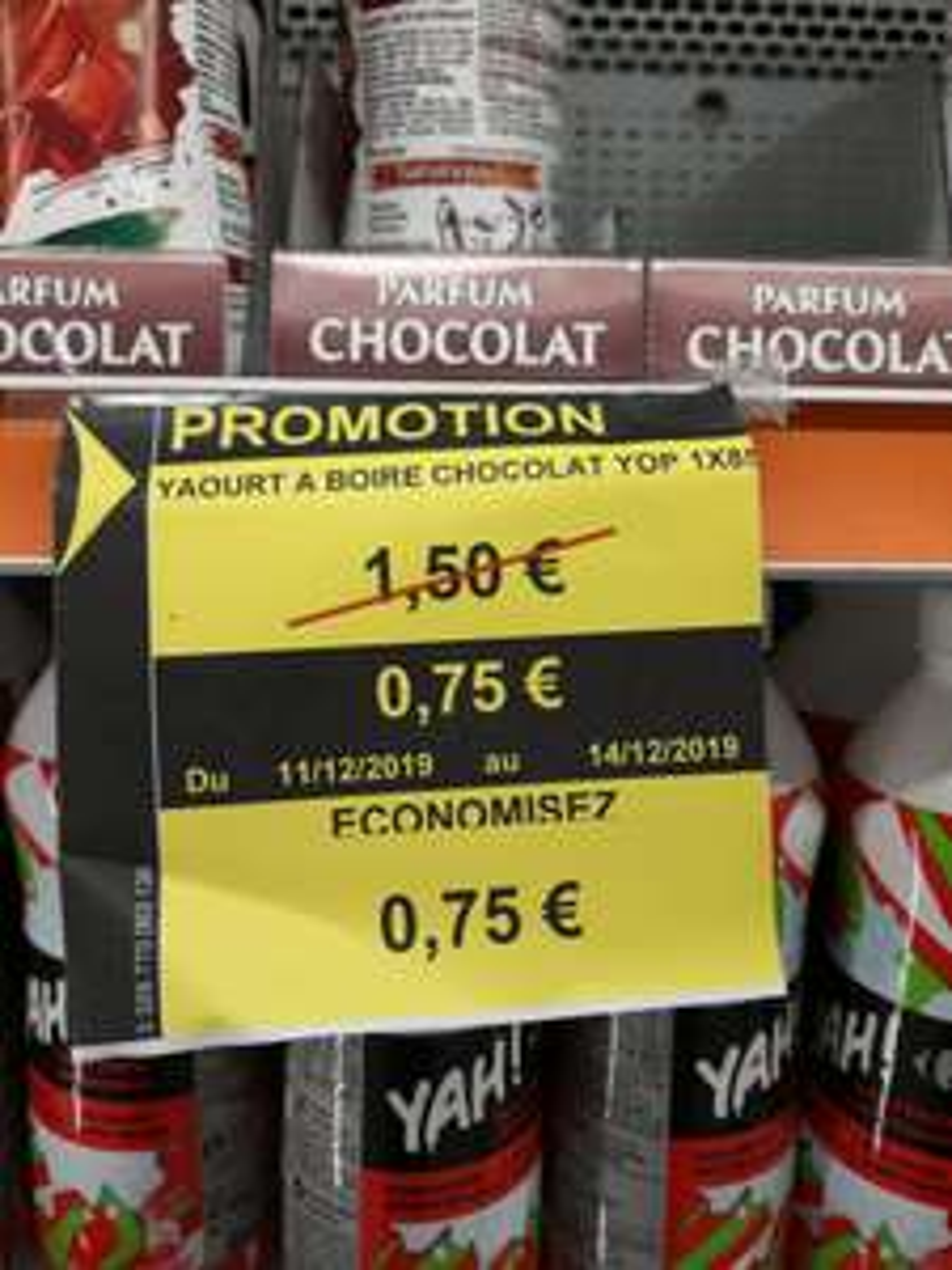 Yaourt à boire Yop Chocolat (Saint-Herblain 44)